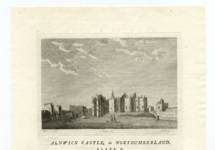 1776 Print ALNWICK CASTLE Northumberland ANTIQUE Georgian Engraving (02)